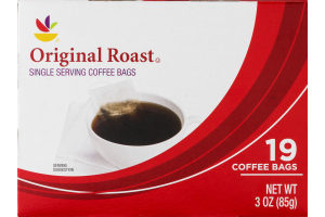 Ahold Single Serving Coffee Bags Original Roast - 19 CT