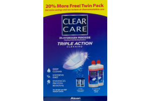 Clear Care Cleaning & Disinfecting Solution Triple Action Cleaning Twin Pack