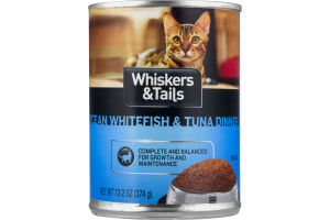 Whiskers & Tails Ocean Whitefish & Tuna Dinner For Cats