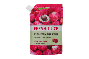 "Гель для душу Fresh Juice Litchi""Raspberry (Дойк-пак)170 мл"
