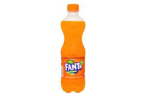 Напиток безалкогольный сильногазированный с апельсиновым соком Fanta п/бут 0.5л