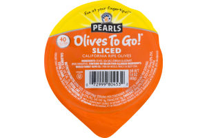 Pearls Olives To Go! Sliced California Ripe Olives