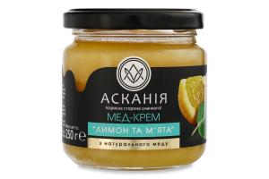 Мед-крем Лимон та м'ята Асканія с/б 250г