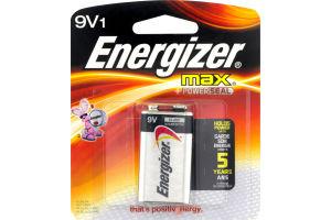 Energizer Max +Powerseal Alkaline Batteries 9V - 1 CT