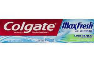 Colgate MaxFresh Whitening Cool Scrub With Microscrubbers Toothpaste Mint Blast
