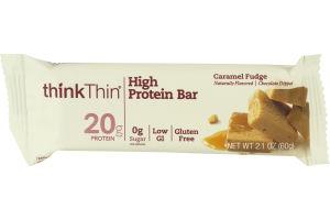 thinkThin High Protein Bar Caramel Fudge