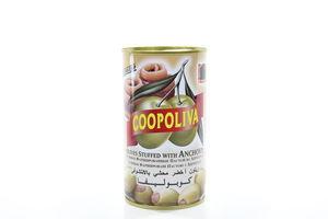 Оливки Coopoliva фаршированные пастой из анчоуса ж/б 350г