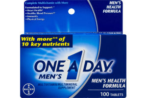 One A Day Men's Multivitamin Health Formula Tablets - 100 CT