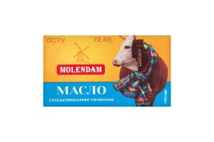 Масло 72.6% солодковершкове Селянське Molendam м/у 180г