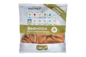 Фьючипсы из семян льна Золотые с итальянскими травами Фьючефуд м/у 100г