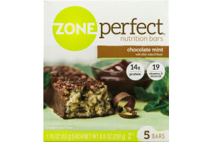 Zone Perfect Nutrition Bars Chocolate Mint - 5 CT