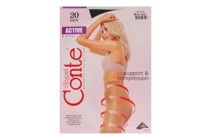 Колготки женские Conte Active 20den 5-XL nero