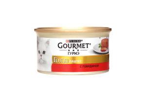 Корм Gold паштет с говядиной Gourmet 85г