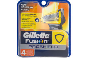 Gillette Fusion Proshield Cartridges - 4 CT