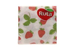 Серветки Ruta Double Luxe Флора 40шт