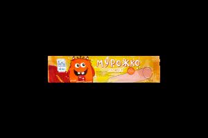 Морозиво ЛІМО ескімо пломбір вітамінізоване «МУРОЖКО» бананове в кондитерській молочній глазурі зі смаком малини та стріляючою карамеллю, 60г.