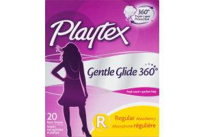Playtex Gentle Glide Regular Deoderant Plastic Tampons - 20 CT