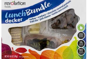 Revolution Foods Lunch Bundle Decker Turkey, Crackers, Chocolate Covered Pretzels, Trail Mix, Jack Cheese, Kettle Corn Crunch