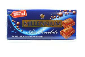 Шоколад Millennium молочний пористий 100г