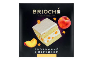 Торт Творожний з персиком Brioche к/у 0.55кг