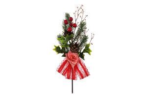 Украшение новогоднее №769371 Веточка елочная Mislt 1шт