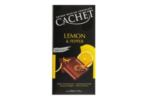 Шоколад Cachet 100г lemon&pepper