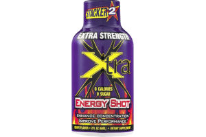Stacker 2 Extra Strength Energy Shot Xtra Grape