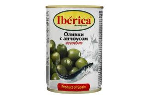 Оливки фаршировані анчоусів Iberica з/б 280г