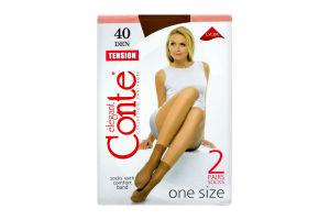 Шкарпетки жіночі Conte Тension 40den bronz 2пари