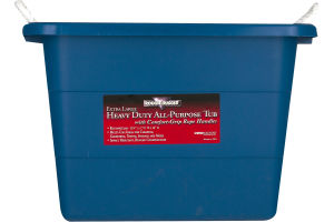 Rough & Rugged Heavy Duty All-Purpose Tub with Comfort-Grip Rope Handle Extra Large
