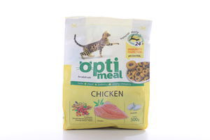 Корм сухой для кошек с курицей Optimeal 300г