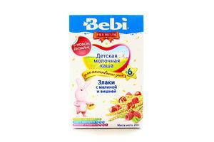 Злаки Bebi Premium з малиною та вишнею 200г х18