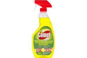 (CN) Comet Nettoyant En Vaporisateur Parfum Frais De Citron, Comet Multi-Surface Spray Cleaner Lemon Fresh
