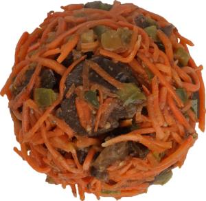 Салат из баклажанов, перца и моркови по-корейски Ніжинський консервний завод кг