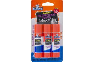 Elmer's Washable Disappearing Purple School Glue Sticks - 3 CT