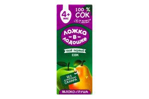 Сок для детей от 4мес Яблоко-груша Ложка в ладошке т/п 200мл