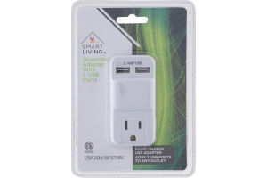 Smart Living Grounded Adapter with 2 USB Ports