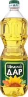 Масло подсолнечное нерафинированное холодного прессования Щедрий Дар п/бут 0.85л