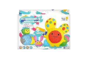 Набор для лепки для детей от 3лет №ТА1802 Пластилин шариковый 6 цветов Genio kids 1шт