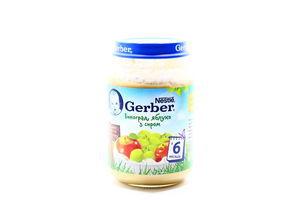 Пюре для детей от 6мес Виноград, яблоко с творогом Gerber с/б 190г