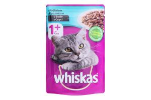 Корм для дорослих котів з кроликом в соусі Whiskas д/п 100г