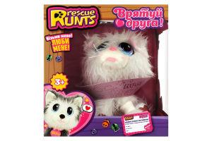 Набір іграшковий для дітей від 3рок №S19014 Кошеня біле Rescue Runts 1шт