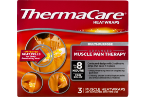 ThermaCare Heatwraps Advanced Muscle Pain Therapy - 3 CT
