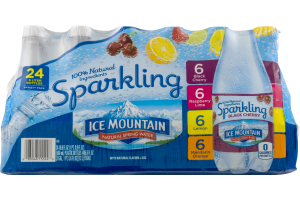 Ice Mountain Natural Spring Water Sparkling Variety Pack - 24 PK