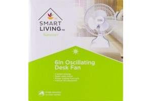 Smart Living Oscillating Desk Fan 6 Inch