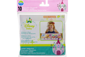 Neat Solutions Table Topper Disney Baby Princess Disposable Placemats - 10 CT