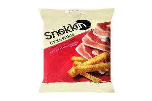 Сухарики пшенично-ржаные со вкусом Бекон Snekkin м/у 110г