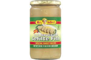 Mrs. Adler's Old Jerusalem Gefilte Fish Special Sweet Recipe