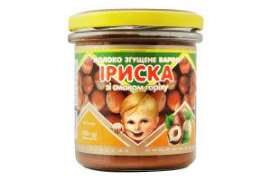 Молоко сгущенное 8.5% вареное со вкусом ореха Ириска Первомайський МК с/б 350г