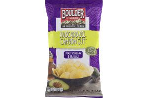 Boulder Canyon Avocado Oil Canyon Cut Kettle Cooked Potato Chips Malt Vinegar & Sea Salt
